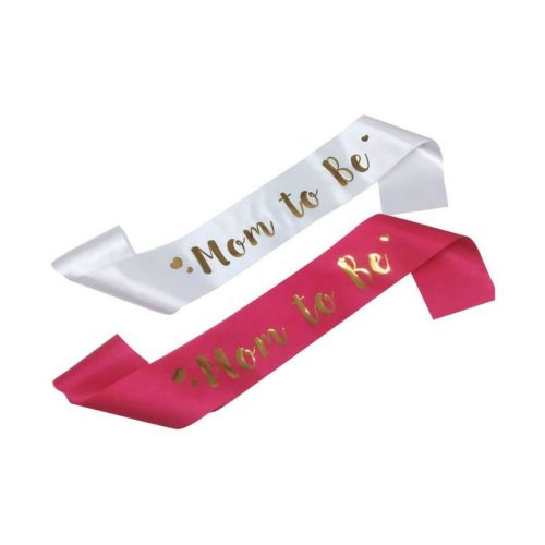 Mom To Be Sash Baby Shower Accessory