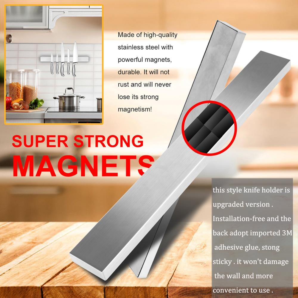 30CM 40CM 50CM Stainless Steel Knife Stand Magnetic Knife Holder Wall Storage Rack Home for Knives Kitchen Accessories Organizer