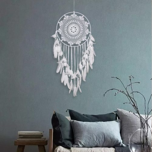 Hanging Dream Catcher All-White Bohemian Style