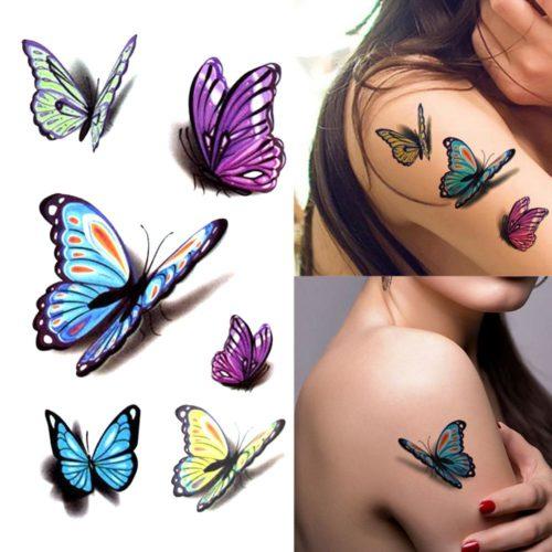 Temporary Butterfly Tattoo 3D Sheet