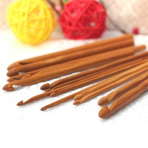 Bamboo Crochet Hooks Set (12pcs)