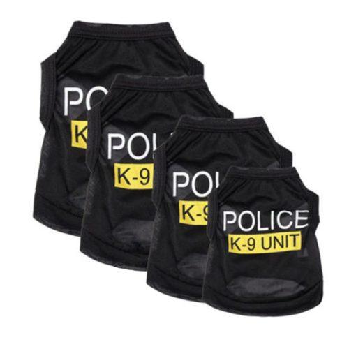 Dog Cop Costume Pet Cosplay Vest