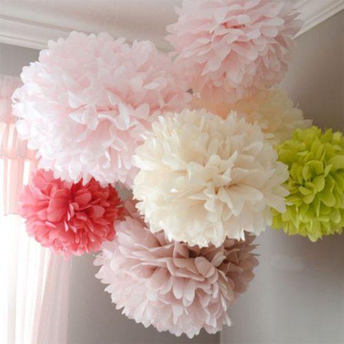 Paper Pom Pom Decorations Tissue Ball