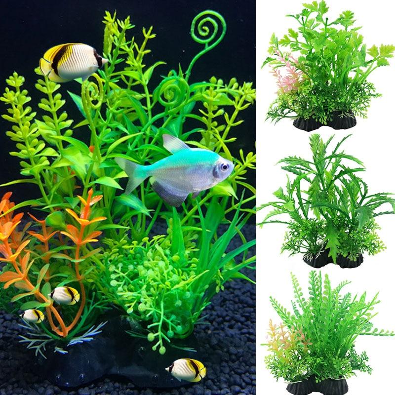 Simulation Artificial Plants Aquarium Decor Water Weeds Ornament Plant Fish Tank Aquarium Grass 14Cm Decoration