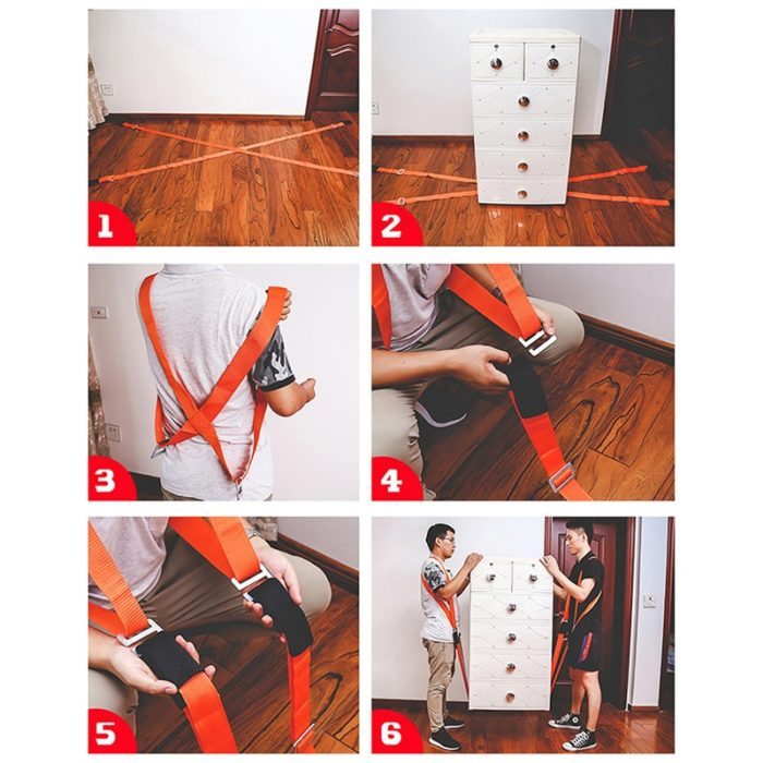 Furniture Lifting Straps Shoulder Carrying Ropes (2pcs)