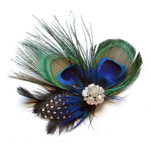 Peacock Hair Clip Hair Accessory