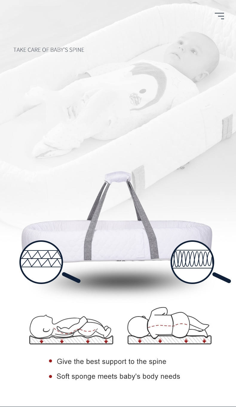 Portable Baby Nest Bed Travel Bed