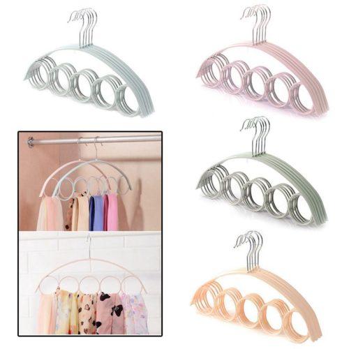 Hanger For Scarves 5-Hole Slots Rack