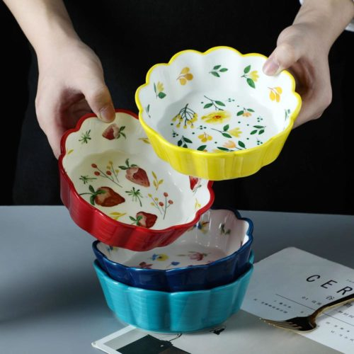 Ceramic Salad Bowl Dainty Kitchenware