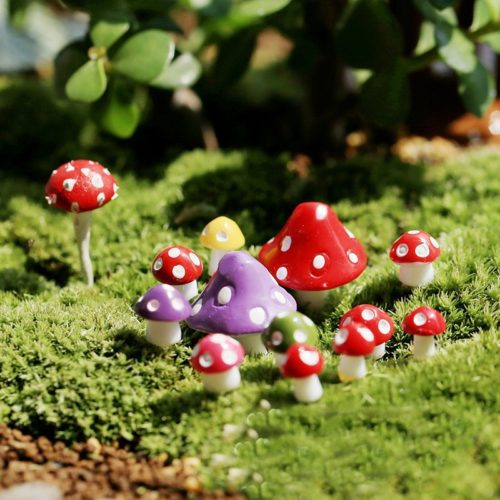 Garden Mushrooms Decors Set (10 Pcs)