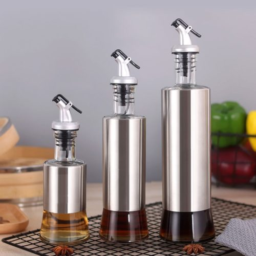 Glass Condiment Bottle Dispenser