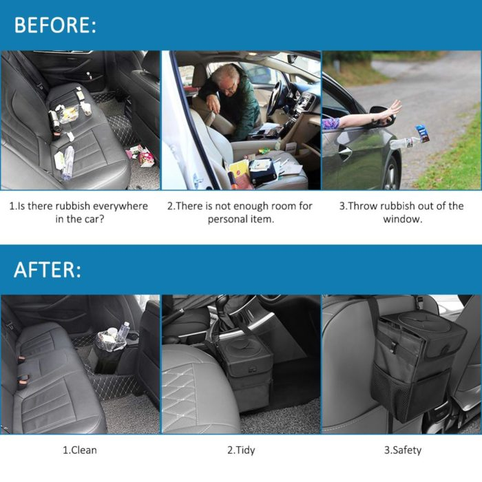 Auto Trash Can Car Waterproof Bin