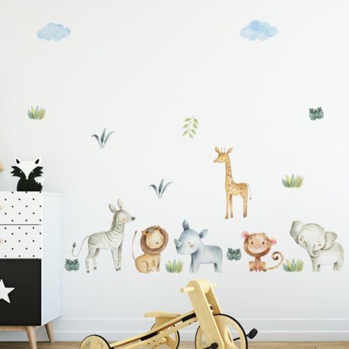 PVC Kids Safari Nursery Wall Stickers