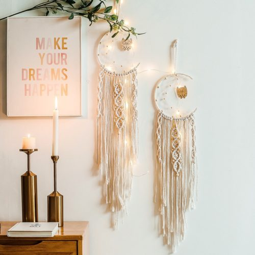 Macrame Moon Wall Hanging Dreamcatcher