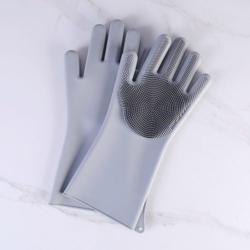 Silicone Cleaning Gloves Dishwashing Scrubber