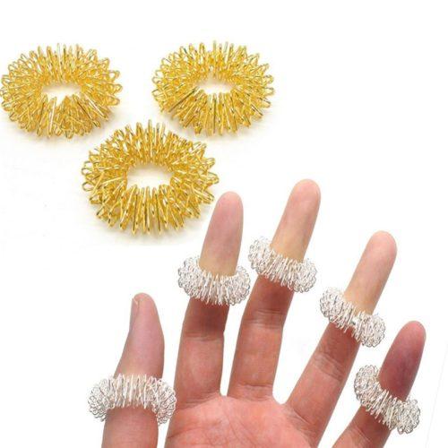 Finger Massage Rings Acupressure Massager
