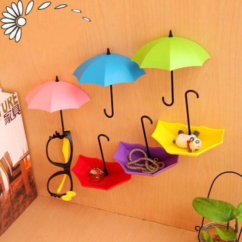 Umbrella Key Hooks Self-Adhesive Hooks (3Pcs)