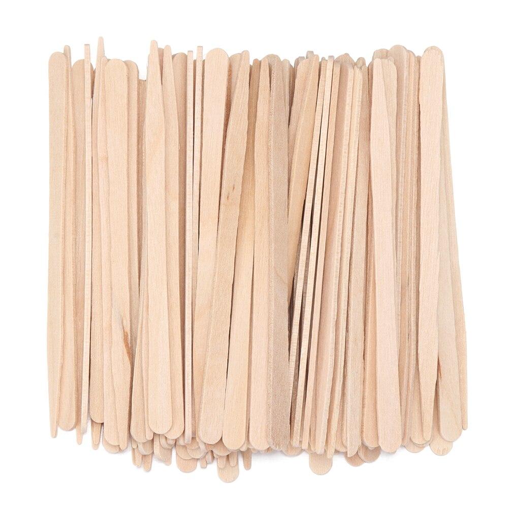 100PCS Disposable Wooden Wax Spatulas Hair Removal Cream Waxing Applicator Stick Beauty Bar Body Beauty Wax Bean Wiping Access