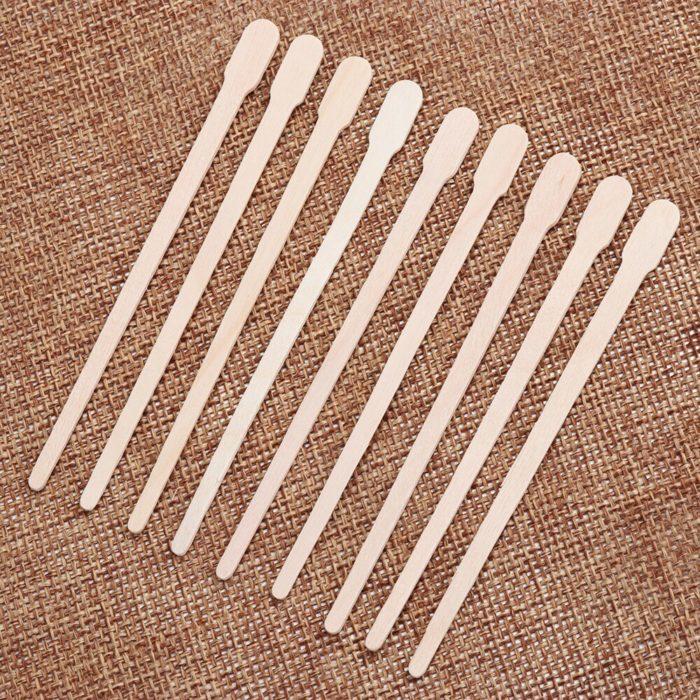 Disposable Wooden Wax Sticks (100pcs)
