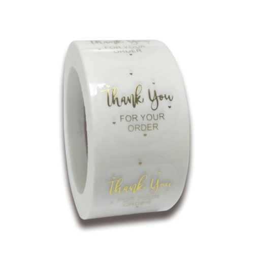 Round Thank You Stickers Packaging Labels
