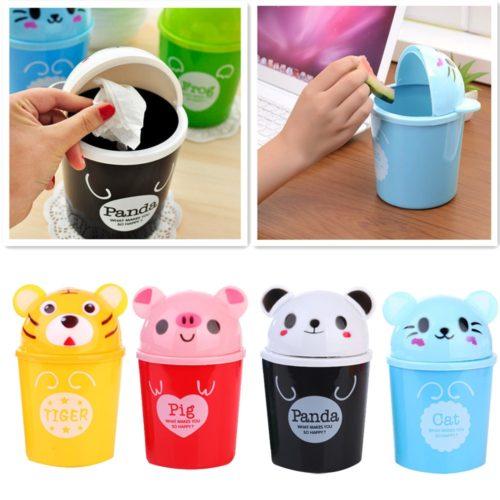 Cute Plastic Mini Trash Bin