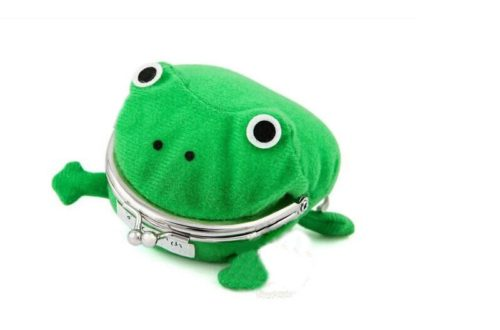 Plush Cartoon Frog Coin Purse