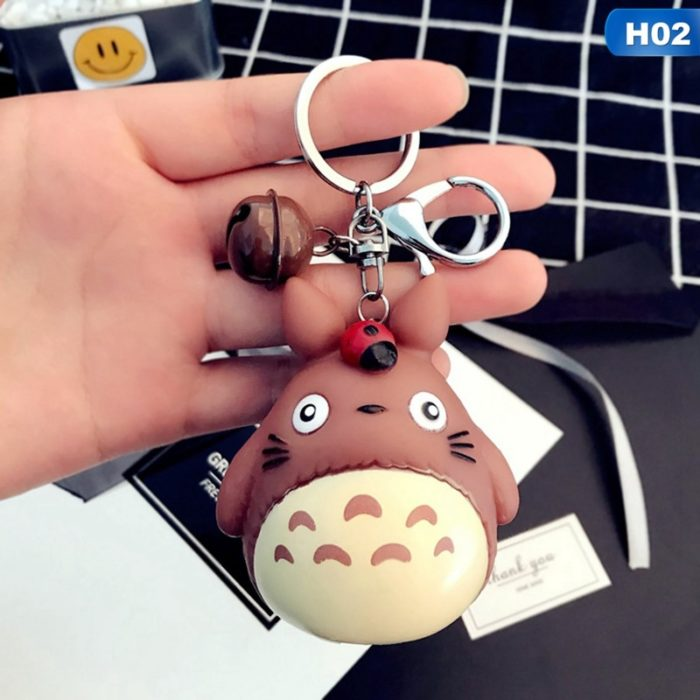 Resin Totoro Keychain with Bell