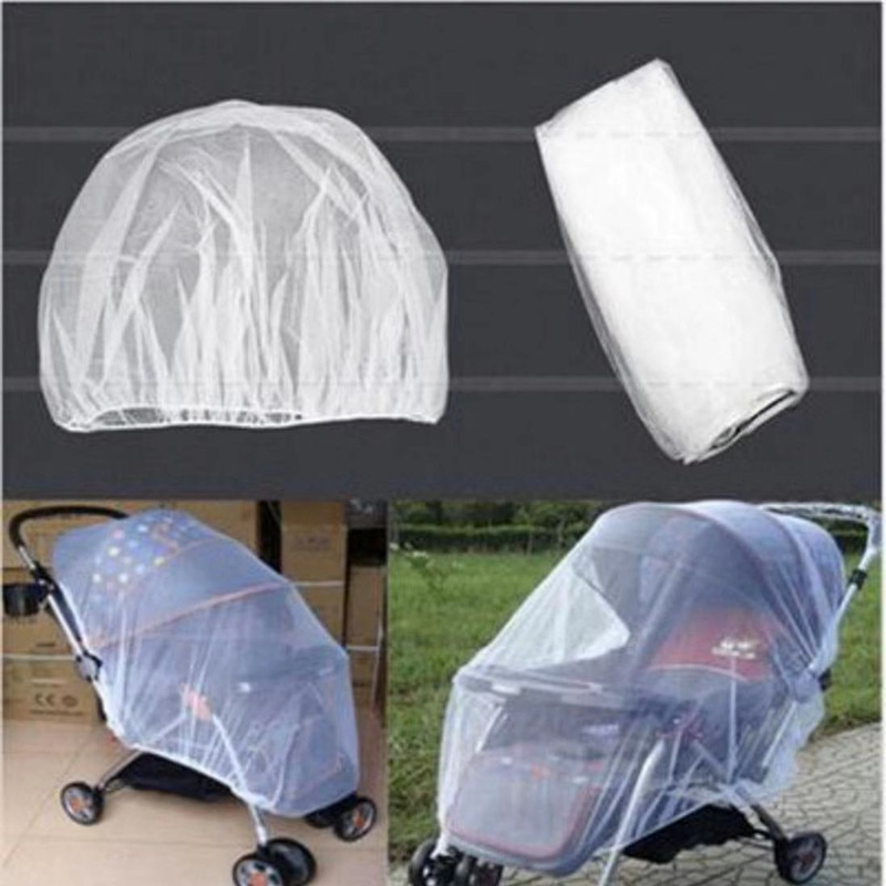 1pc/lot Summer Safe Baby Kids Stroller Mosquito Net Pram Protector Carriage