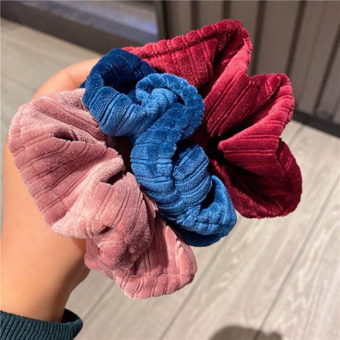 Vintage Style Big Corduroy Scrunchie