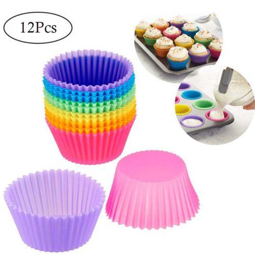 Non-Stick Reusable Silicone Cupcake Liners