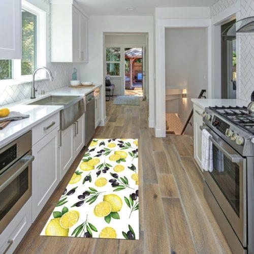 Lemon Kitchen Rug Non-Slip Mat