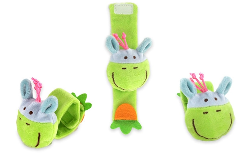 Baby Toys 0-12 Months Baby Rattle Kids Toy Stroller Crib Bed Insect Animal Plush Wrist Rattle Children Toy For Newborn Gift 1pcs