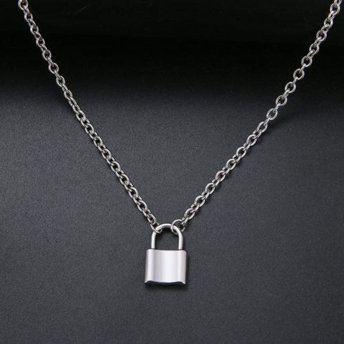 Padlock Necklace Fashion Accessory
