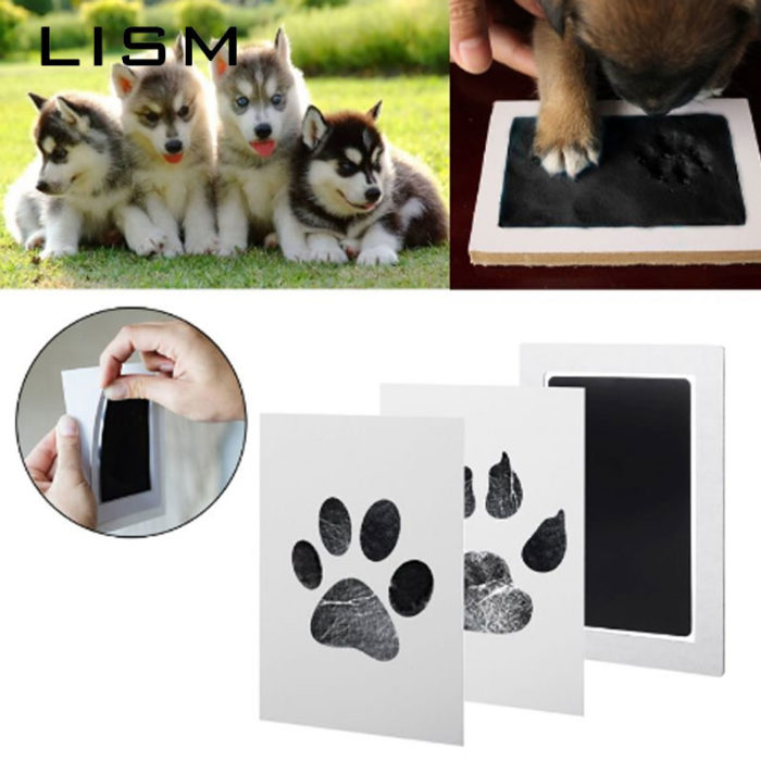 Paw Print Stamp Pad with Imprint Cards