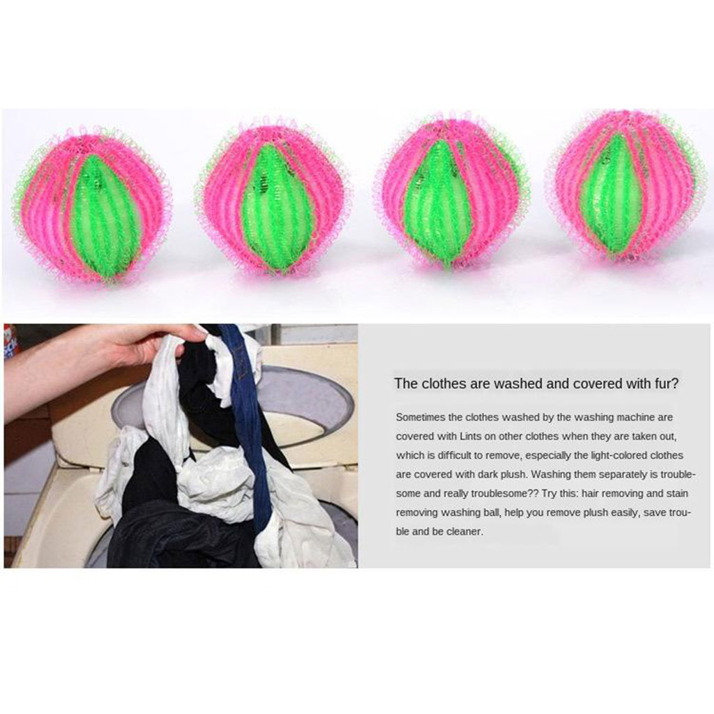 6Pcs Pet Hair Remover for Laundry Lint Remover Washing Balls Reusable Dryer Balls Washer from Dogs and Cats