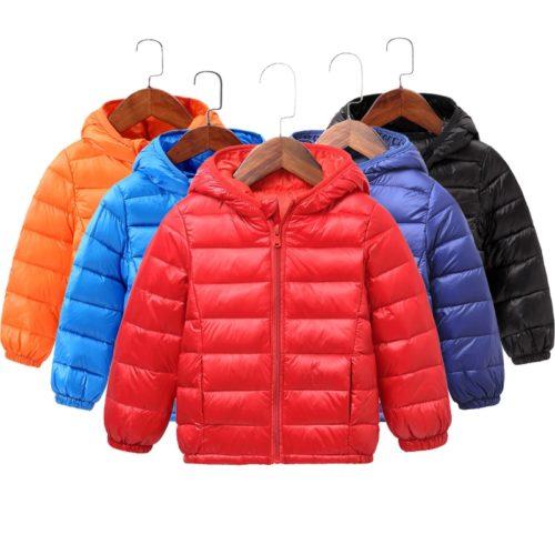 Kids Puffer Jacket With Hood