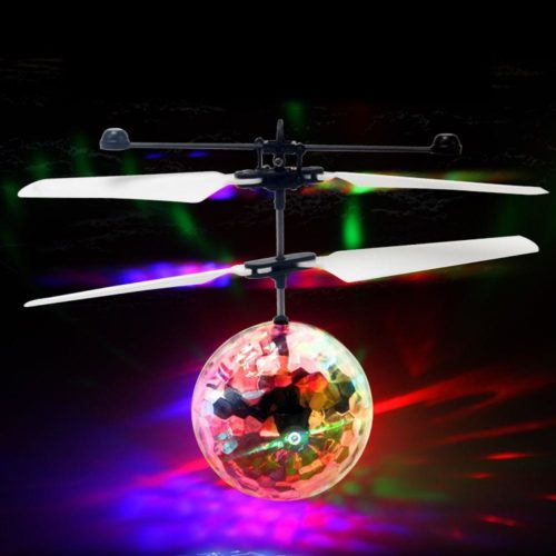 Flying Disco Ball LED Light with Propeller