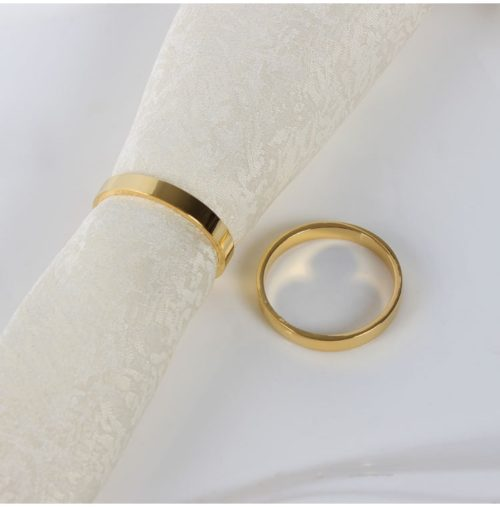 Gold Napkin Rings Table Setting Supply