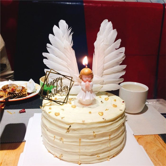 Decorative Angel Wings Cake Topper