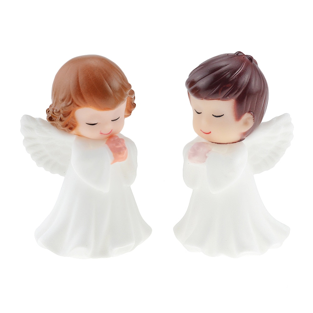 1Pcs Angel Feather Wing Flag Cake Toppers for Wedding Birthday Party Baking Dessert Valentine's Day Cake Top Decoration Supplies