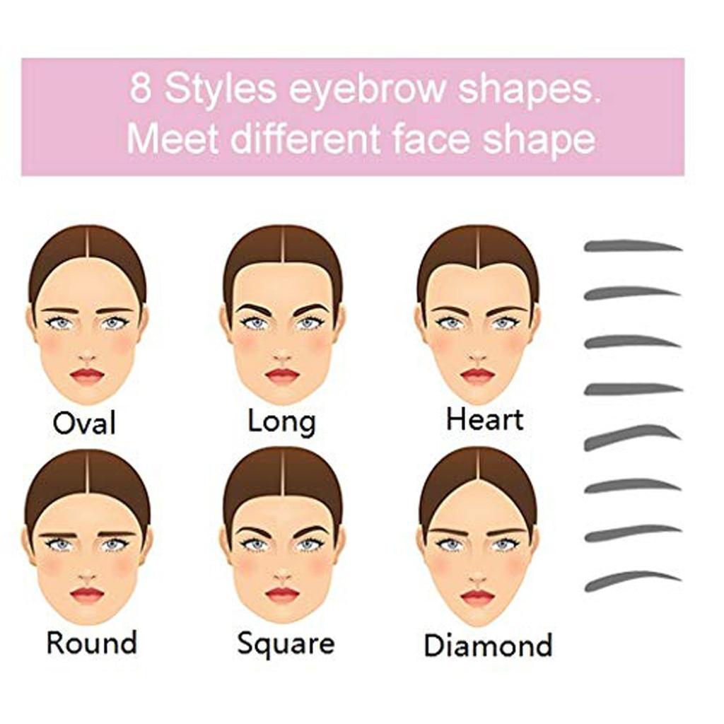 8 In 1 Reusable Eyebrow Shaper Makeup Template Eyebrow Grooming Shaping Stencil Kit Eyebrow Template Reusable Eyebrow Shaping