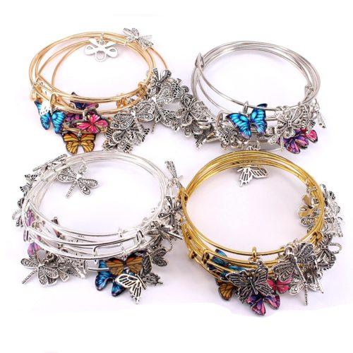 Wire Bangle Bracelet Set (5 Pcs)