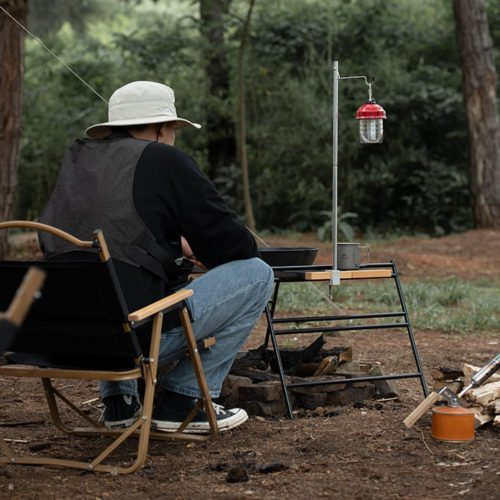 Camping Light Pole Table Lamp Holder
