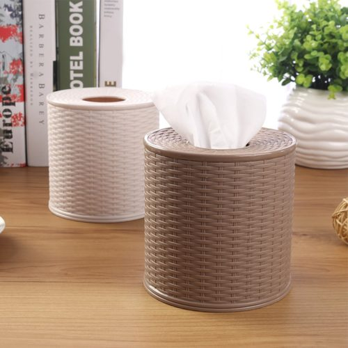 Round Tissue Box Toilet Paper Holder