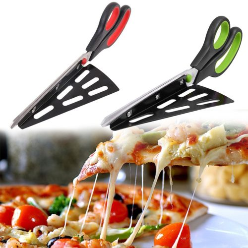 Scissors for Pizza Cutter and Server in One