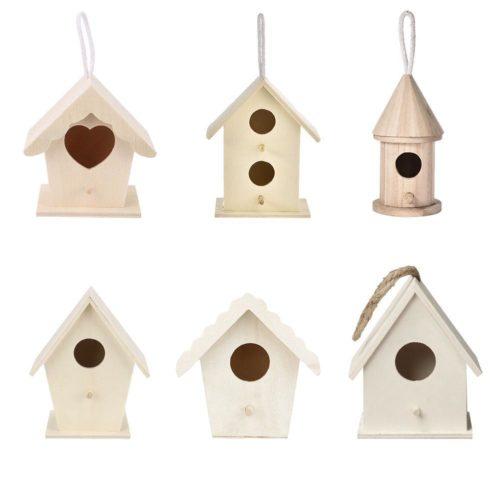 Hanging Wooden Nesting Bird House
