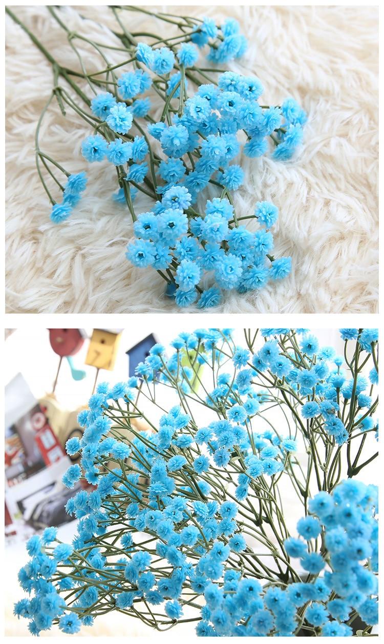 Artificial Flowers False Baby's Breath Gypsophila Wedding Decoration Birthday DIY Photo Props Flower Heads Branch