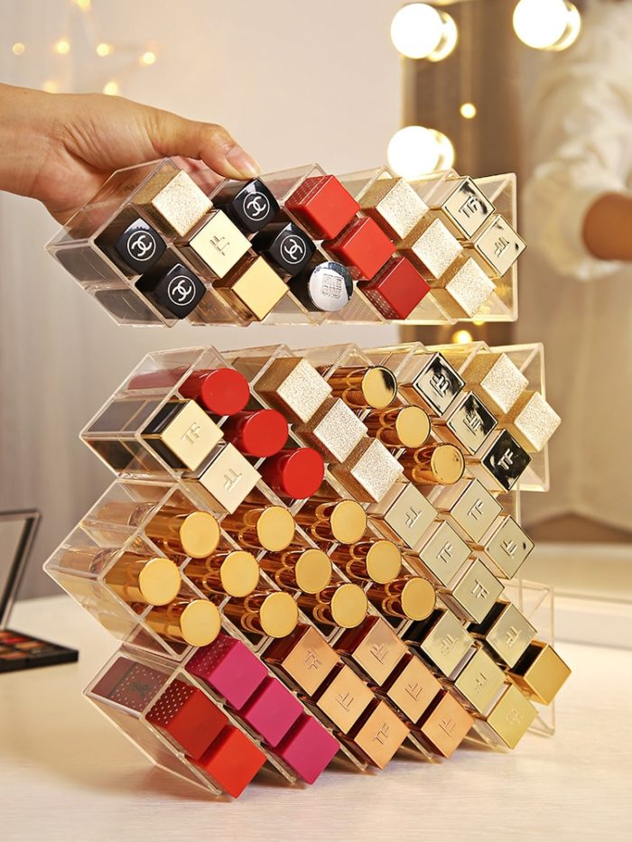Lipstick Acrylic Holder 16 Grids Display