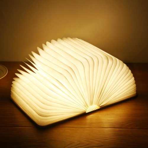 Wooden Rechargeable Book Night Light