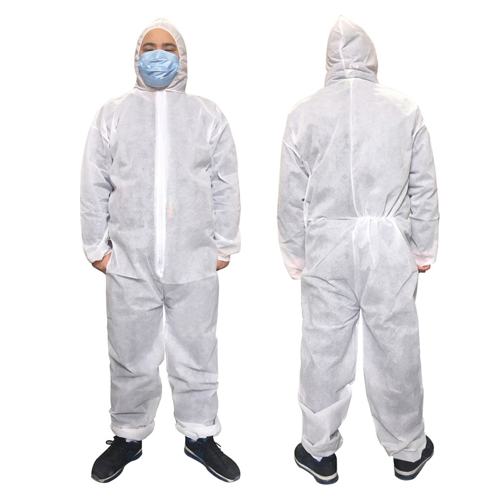 Industry Disposable Non-woven fabric Protective Breathable dustproof Safety Clothing Work Spary Painting Clothes overall Suit